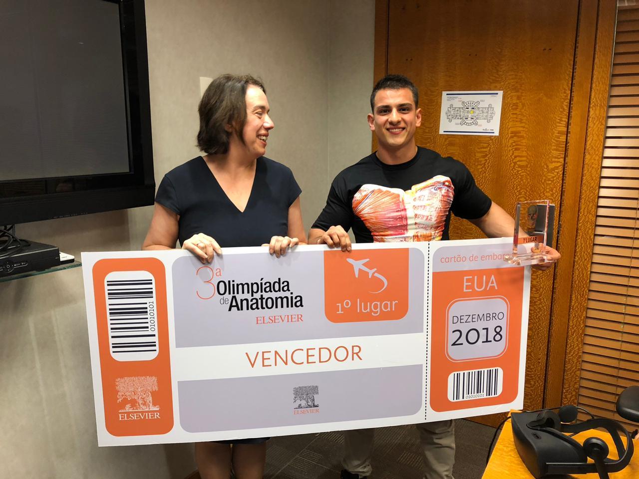 Campeão da 3ª Olimpíada Brasileira de Anatomia Elsevier